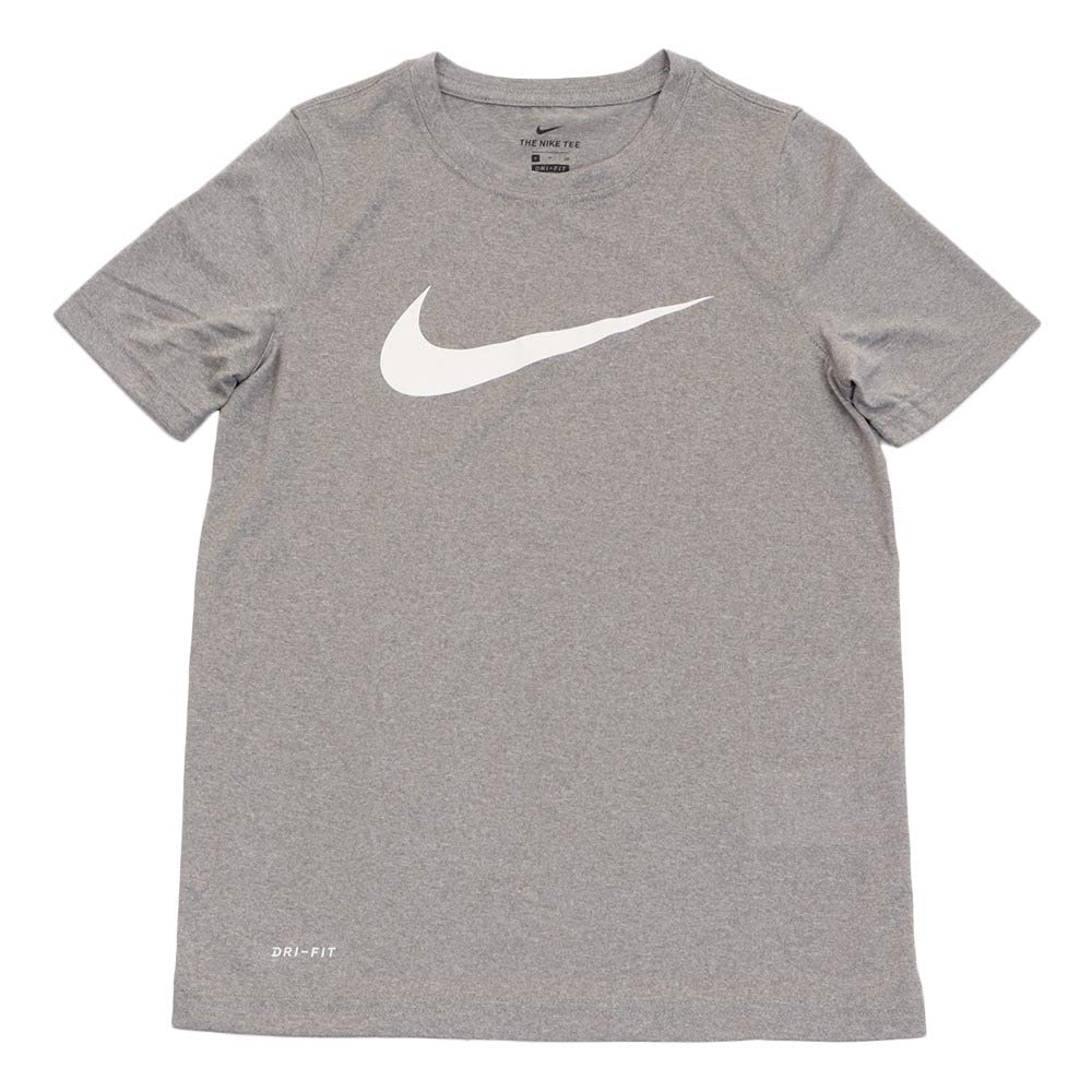 2ed5c7d7aec53 Amazon.com: Nike Boy's Dri Fit Swoosh T Shirt: Clothing