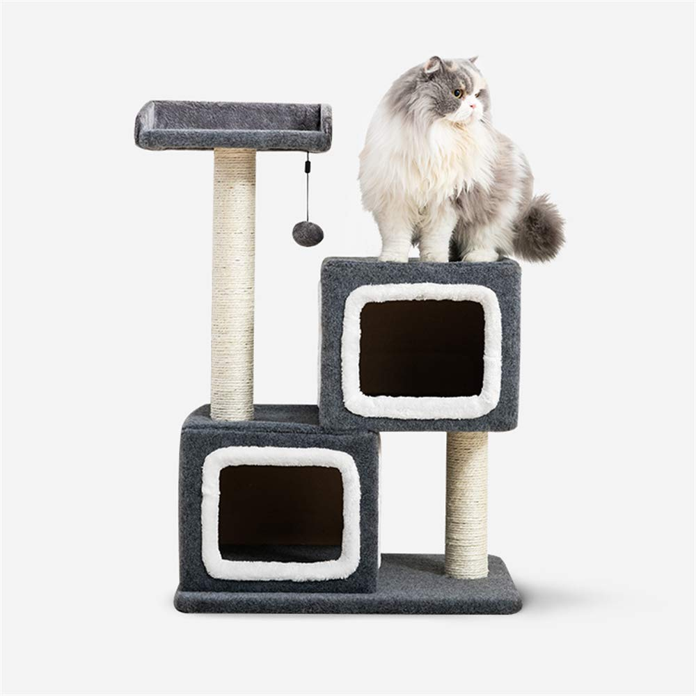 Daoxiang Double house cat climbing frame cat tree cat grab board plus cat jumping platform, boutique cat furniture