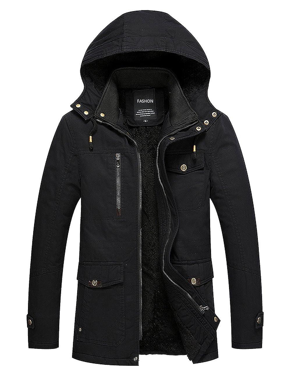 Menschwear Uomo Jacket Down Puffer Giacca foderato di pile Incappucciato Piumino S-XXXL US-CYX-178935