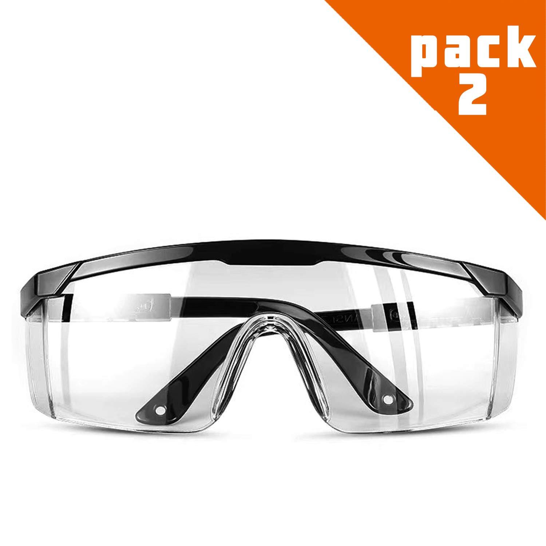 Carfia Gafas de Proteccion Gafas de seguridad Lentes antiniebla transparentes Antiproyección Lentes a prueba de polvo Lentes de protección
