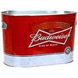 Budweiser Beer Oblong Metal Painted Ice Gift Bucket Tub Tote by Non Branded
