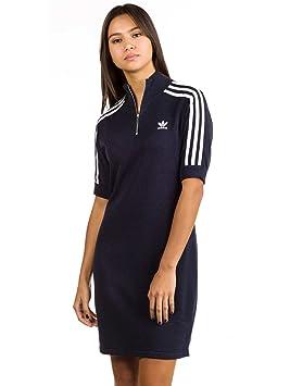 Adidas 3 Str Vestido de Tenis, Mujer, Azul (Tinley), 32