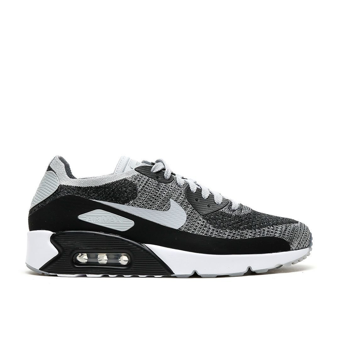 4d9ecca0d1e65b Nike Mens Air Max 90 Ultra 2.0 Flyknit Running Shoes Black Wolf Grey Pure  Platinum 875943-005 Size 12  Buy Online at Low Prices in India - Amazon.in