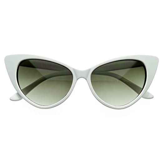 314758d8fb8 Image Unavailable. Image not available for. Color  SWG EYEWEAR Designer  Inspired Super Cat Eye Sunglasses Snow White