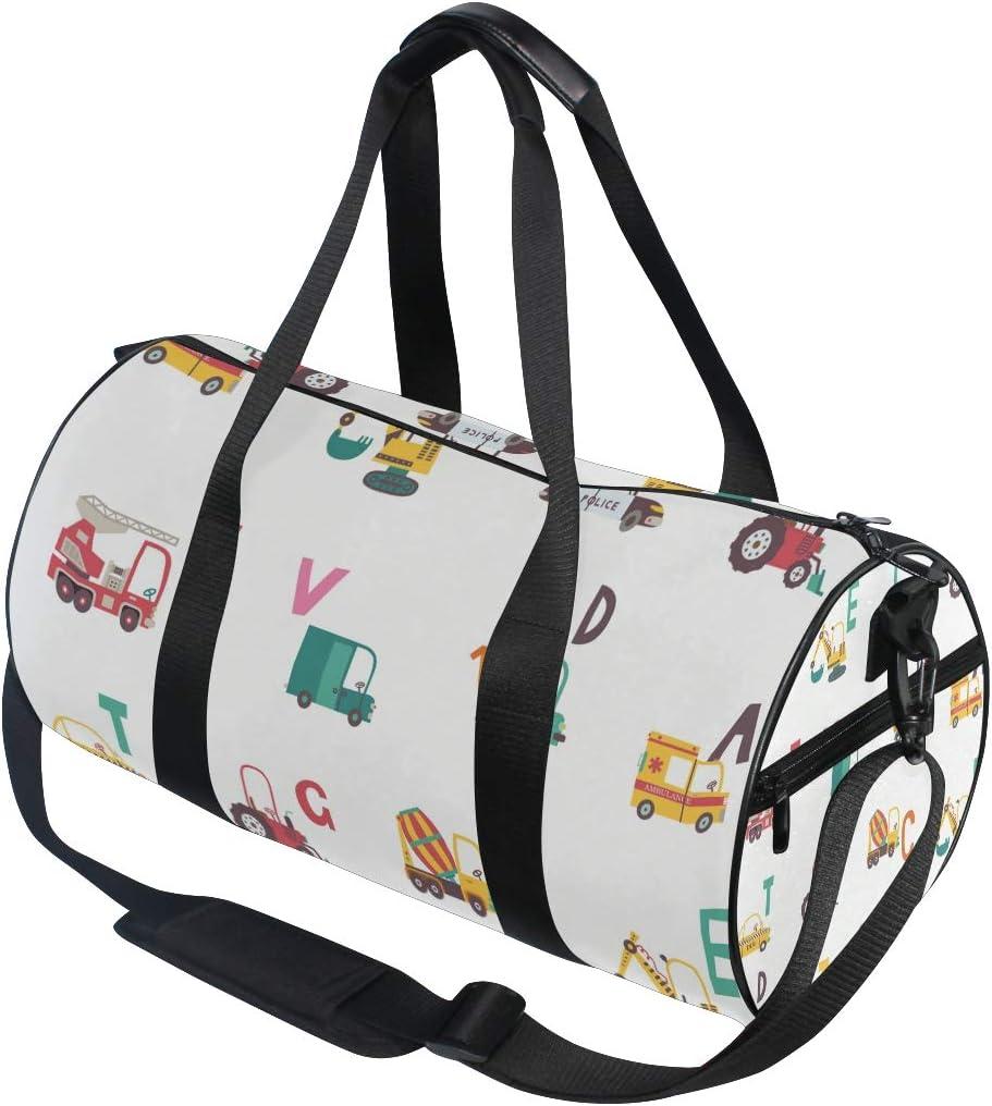 MALPLENA Car Name Initials Drum gym duffel bag women Travel Bag