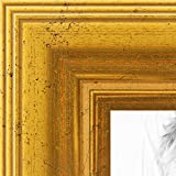 ArtToFrames 12x16 inch Gold Foil with Steps Wood Picture Frame, WOMB-847-2186-12x16