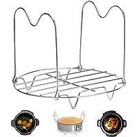 Steamer Rack Trivet with Handles Compatible with Instant Pot Accessories 3 Qt 5 Quart, Pressure Cooker Trivet Wire Steam…