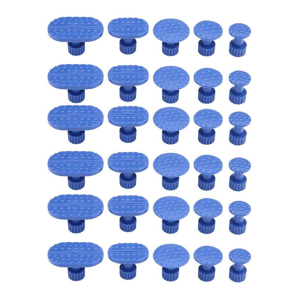 linguette estrattore per colla con martello scorrevole kit di riparazione ammaccature senza vernice 30 pezzi estrattore di ammaccature senza vernice Chanhan per rimuovere ammaccature da grandine