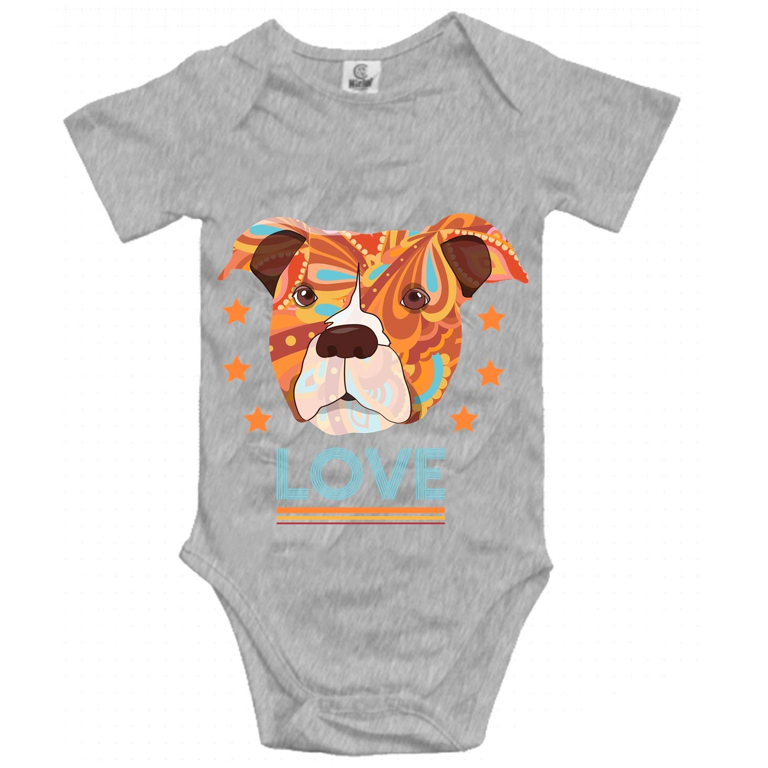 Qilrocm Baby Boy Jumpsuit Soft One-Piece Pitbull Mom Romper Short Sleeve Bodysuit for Girl