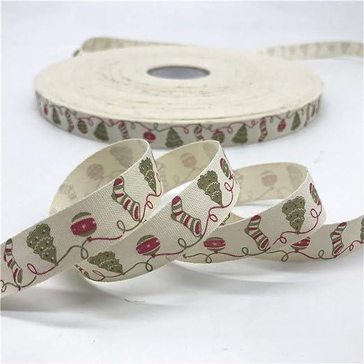 Ybqy 10 Yardas 15mm Cinta de algodón diseño Hecho a Mano Cintas de ...