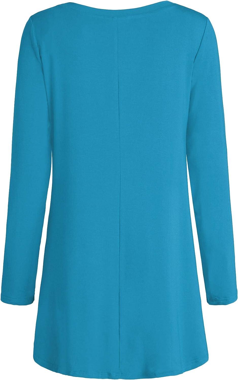 Esenchel Womens Long Sleeves Tunic Top Leggings Shirt