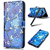Galaxy S8 Case,Samsung Galaxy S8 Wallet Case,Galaxy S8 Stand Flip Case,SKYMARS Samsung Galaxy S8 2017 Cover Fashion Gloss Skin 3D Creative Design PU Leather Flip Kickstand Cards Slot Wallet Magnet Stand Fit Case for Samsung Galaxy S8£¨2017£©Blue Tree Painting