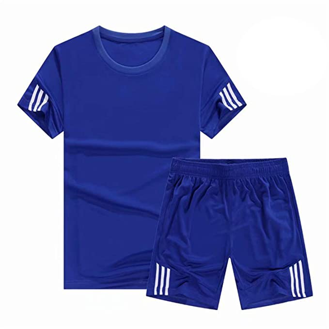 Men Sport Running Sets, Soccer Training Tracksuits Jersey Fitness Sportswear Gym Sports Sets Soccer Jerseys