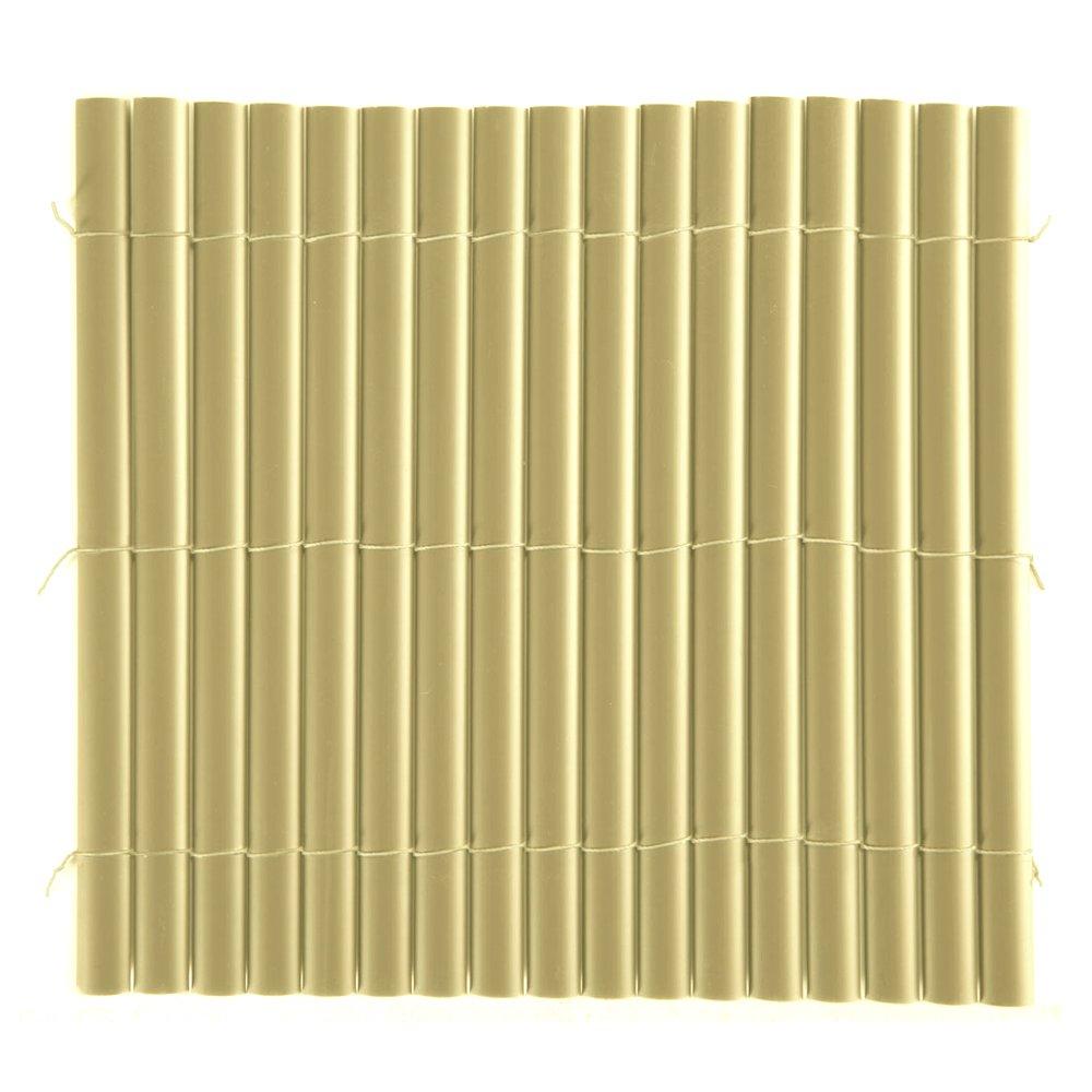 arella singola canniccio pvc plastica marrone 1,5x5mt recinzioni ... - Recinzioni Da Giardino In Pvc