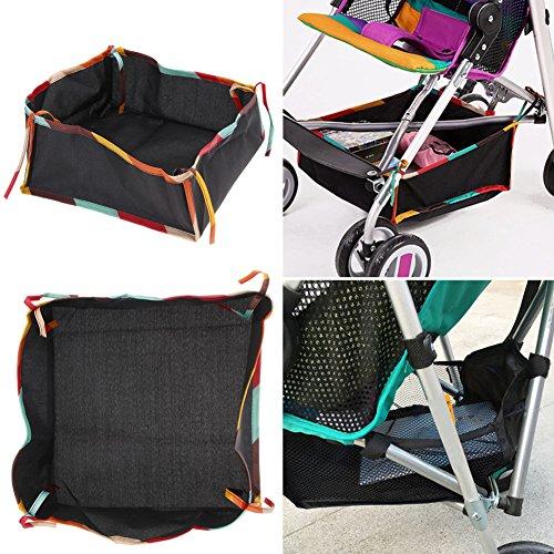 (KANG--Universal Hanging Net Storage Bag Bottom Basket for Baby Stroller Pram Buggy)