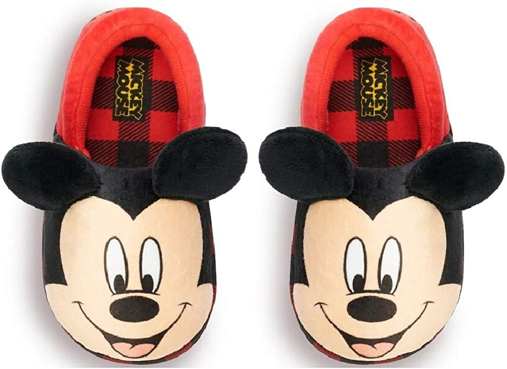 Toddler Boys Mickey Mouse Gingham Slippers