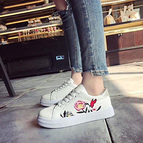 Stringate Estive Sneakers Donna Beautyjourney Bianca Da Sportive Scarpe Corsa Basse Eleganti Ginnastica qwqvFYX