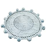 GAOJIAN Round The Ball Ball Blanket Handwork Knitting Bay Window Pad Caddice Carpet 80 80Cm , b