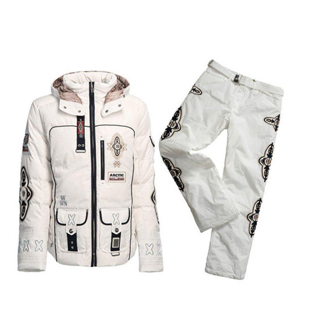 B0GNER Winter Women Pira-D Down White Ski Jacket and White Ski Pants