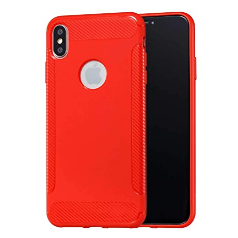 coque fine rouge metal iphone xs