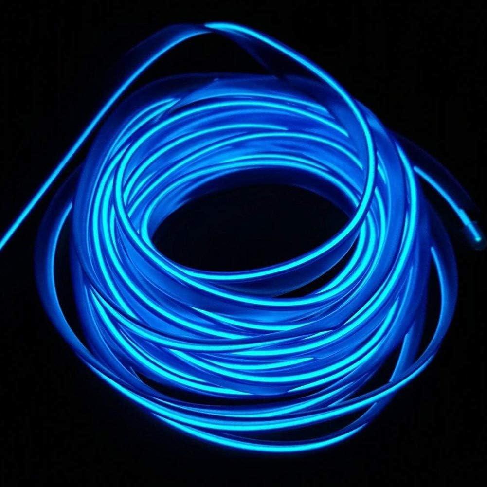 Eisblau 9ft Neonr/öhre Lichter Auto Innenverkleidung Lichtleiste Erweiterte Low Power Consumption Design f/ür Innenverkleidung Gap Dekorative El Wires 3m