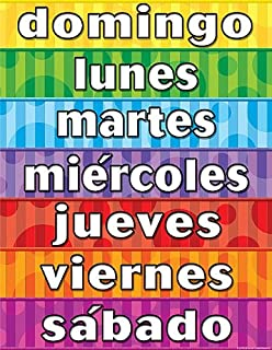 Calendar Days Of The Week In Spanish.Amazon Com Teacher Created Resources Months Of The Year Spanish