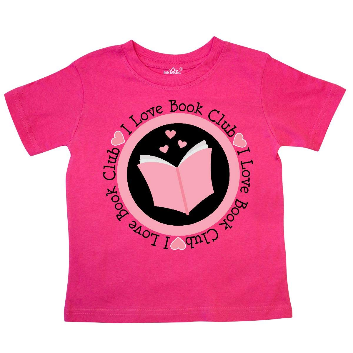 inktastic I Love Book Club Pink Toddler T-Shirt