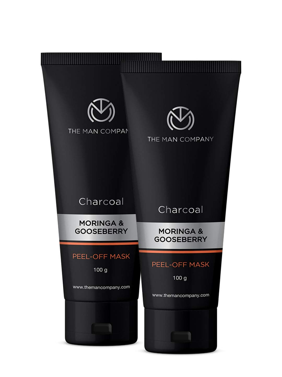 Buy The Man Company Activated Charcoal Peel Off Mask Dead Skin And Blackheads Removal Face Mask 2x100g Charcoal Moringa And Gooseberry Made In India Online At Low Prices In India