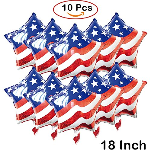 Decorations Mylar Foil Star Balloons Parties Birthdays Anniversary - American Flag - Toy for Children - Events