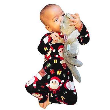 Amazon.com: Pollyhb - Mono de Navidad para bebé, diseño de ...
