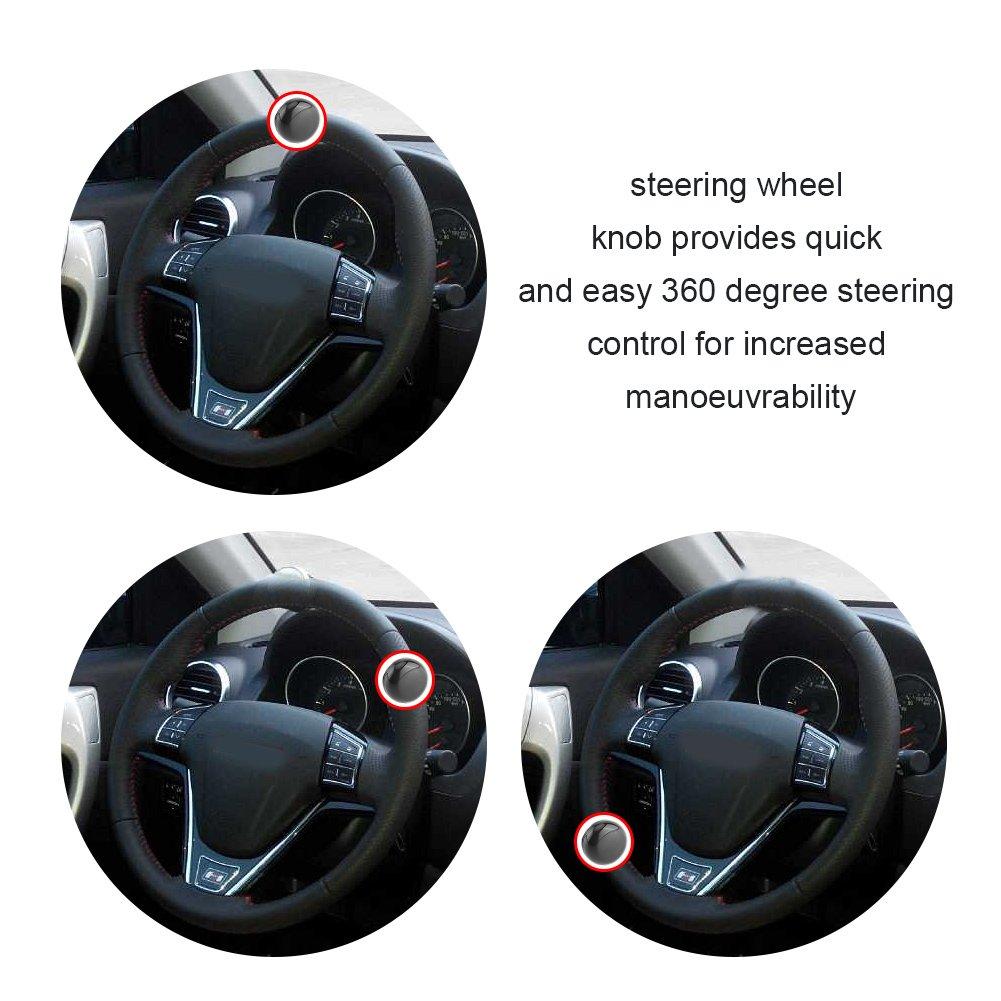 pomo del volante universal para cami/ón tractor Pomo giratorio para volante desmontable pomo de la direcci/ón