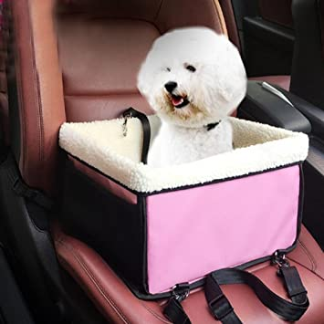Transportín de asiento de coche para perros, plegable, para perros, coches, mochilas, viajes, cama, lujoso, para perro o gatos: Amazon.es: Productos para ...