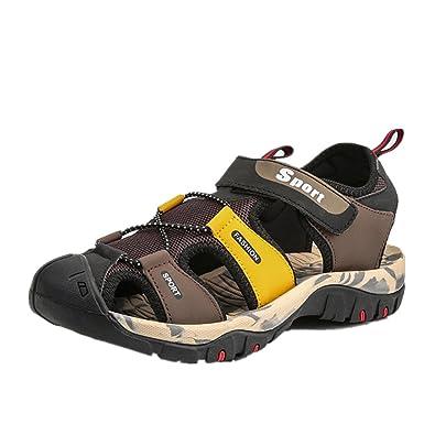 ZOEASHLEY Herren Sandalen Trekkingsandalen Sommer Sport Outdoor Schuhe mit Klettverschluss - Vorne Geschlossen...