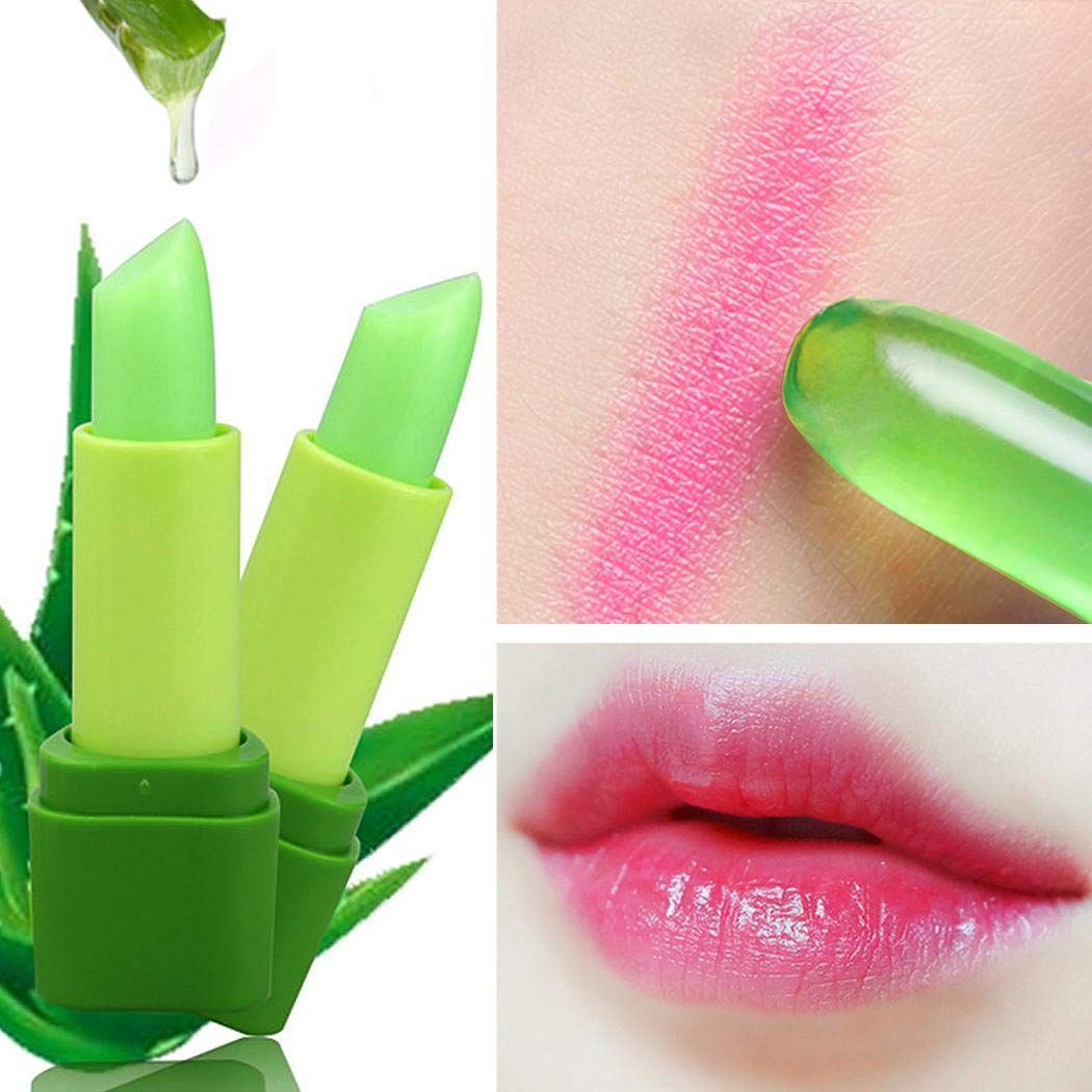 Color Temperature Change Lipstick Natural Aloe Moisturizer Lip Cosmetics Make Up Kloius