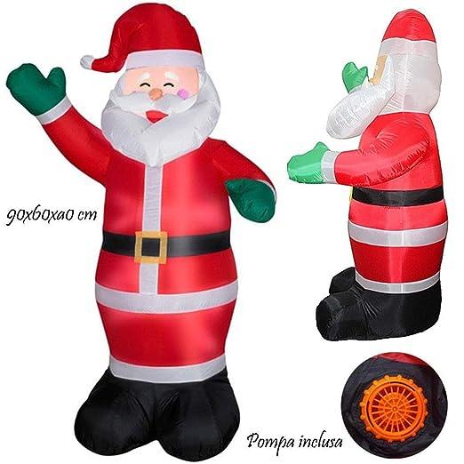 TrAdE Shop Traesio Papá Noel Santa Claus Hinchable con Bomba de ...
