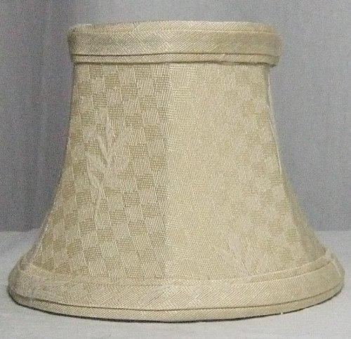 Lite Source CH5130-5 Candelabra Shade, Leaf - Jacquard Shade Fabric
