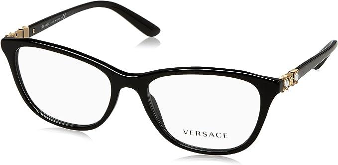 Versace Womens VE3224 Eyeglasses Black 52mm