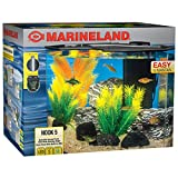 5 gallon fish tank - MarineLand Nook Aquarium Kit with Built-in LEDs and Hidden Filtration