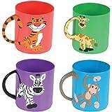 Rhode Island Novelty Animal Mugs Assorted Color and design (12 Pack)