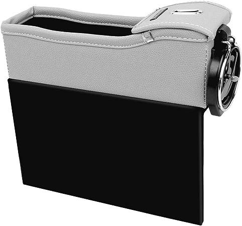 Starnearby Multifunktionale Aufbewahrungsbox Für Auto Autositz Ablagefach Pu Leder Autositz Seitentaschen Organizer Aufbewahrungs Schlitz Box Für Auto Sitze Für Multifunktionale Schlitze Auto
