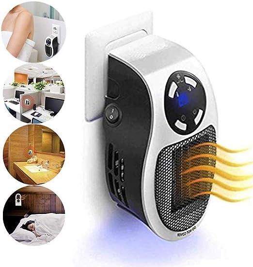 KELEQI Portátil Ventilador Calefactor, Calentador De Enchufe, Mini ...