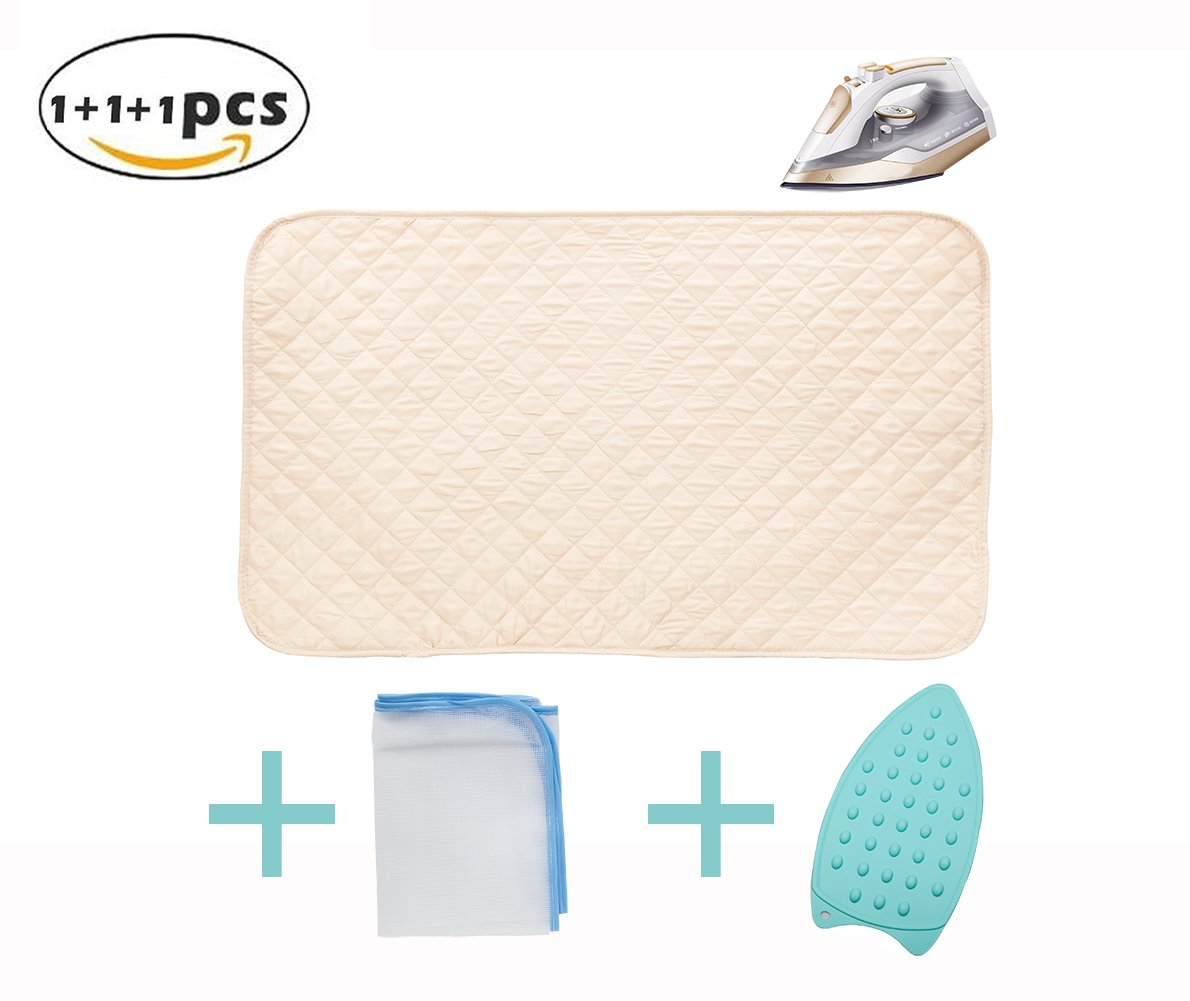 LeQeZe Ironing Mat, Washer Dryer Heat Resistant Pad,Gift Silicone Iron Rest Pad