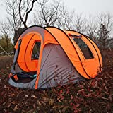 Bravindew-Waterproof-Tent-X-large-Instant-5-6-Person-Pop-Up-Dome-Tent-with-Skywindow-Durable-Portable-Easy-Up-Shelter-with-12-Stakes-Carrying-Bag-Ideal-for-Family-Camping-orange