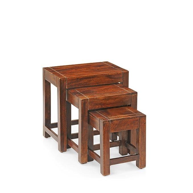 Royaloak Jade Nested Stool  Honey Brown  Nesting Tables