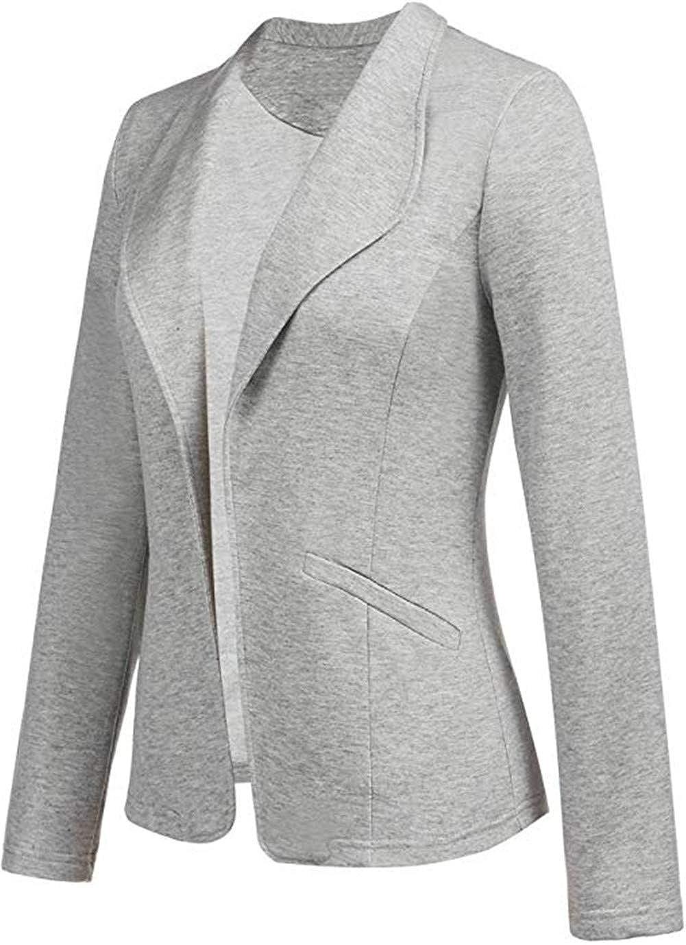 GODGETS Donna Manica a 3//4 Aperto Davanti Colletto Cappotto Elegante Ufficio Business Blazer Top Gilet Corto OL Giacca da Abito Cardigan