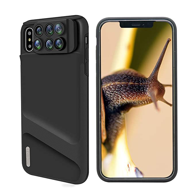 save off 923be 28868 iPhone Xs Max Lens, 6 in 1 Dual Phone Camera Lens Kit [ 180 Degree Fisheye,  0.65X Super Wide Angle, 10X/20X Macro, 2X Zoom Telescope Lens ] with Phone  ...