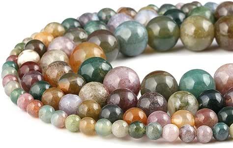 """4-14mm Pure Amazonite Round Jewelry Gemstone Beads For DIY Design Strand 15/"""""""