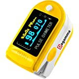 Dagamma DP150 Pulse Oximeter with Carrying Case, Batteries, Neck/Wrist Cord & One-Year Warranty Advanced LCD Screen (Yellow Canary)