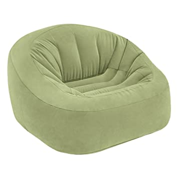 Intex 68576NP - Sillón hinchable Beanless Bag Club en color verde ...