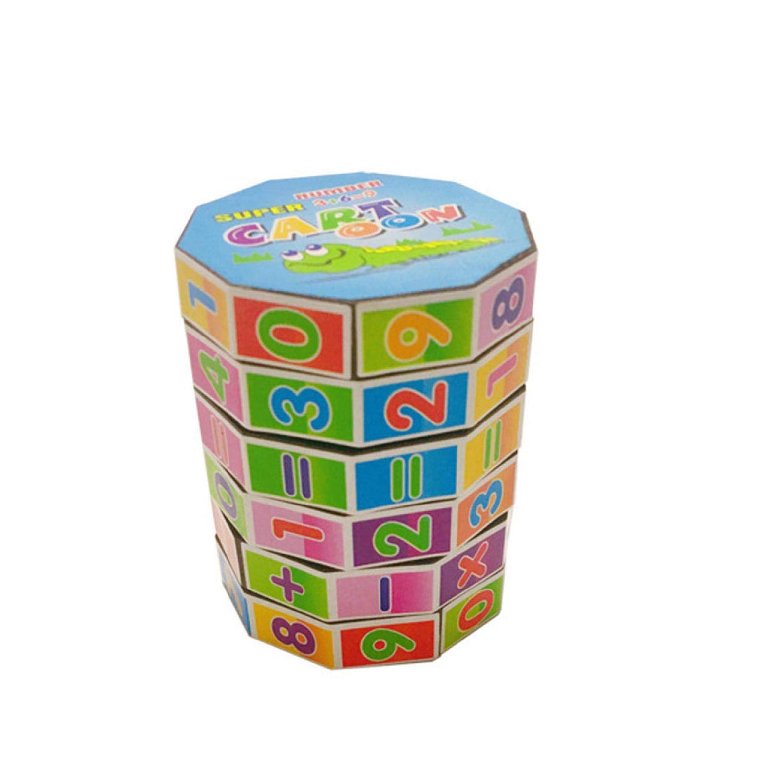 Dartphew Educational Toys Children Mathematics Numbers Magic Cube Toy Puzzle Portable Game Colorful Maths Numbers Counting for Boys and Girls Christmas Birthday Gift Maths RelaxingTeaching Way